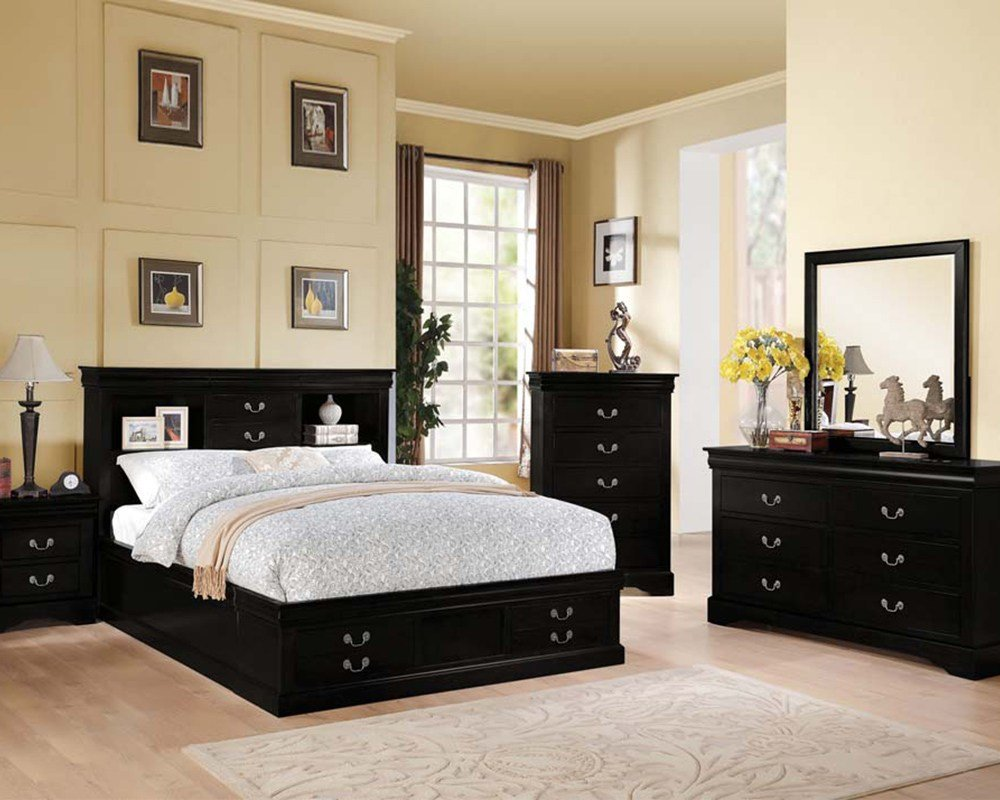 Best Acme Black Bedroom Set Louis Philippe Iii Ac24390Set With Pictures
