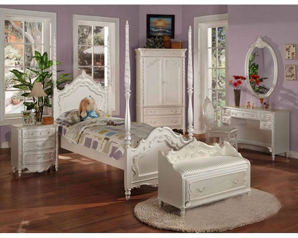 Best Acme Furniture Bedroom Set In Pearl White Ac01000Tset With Pictures