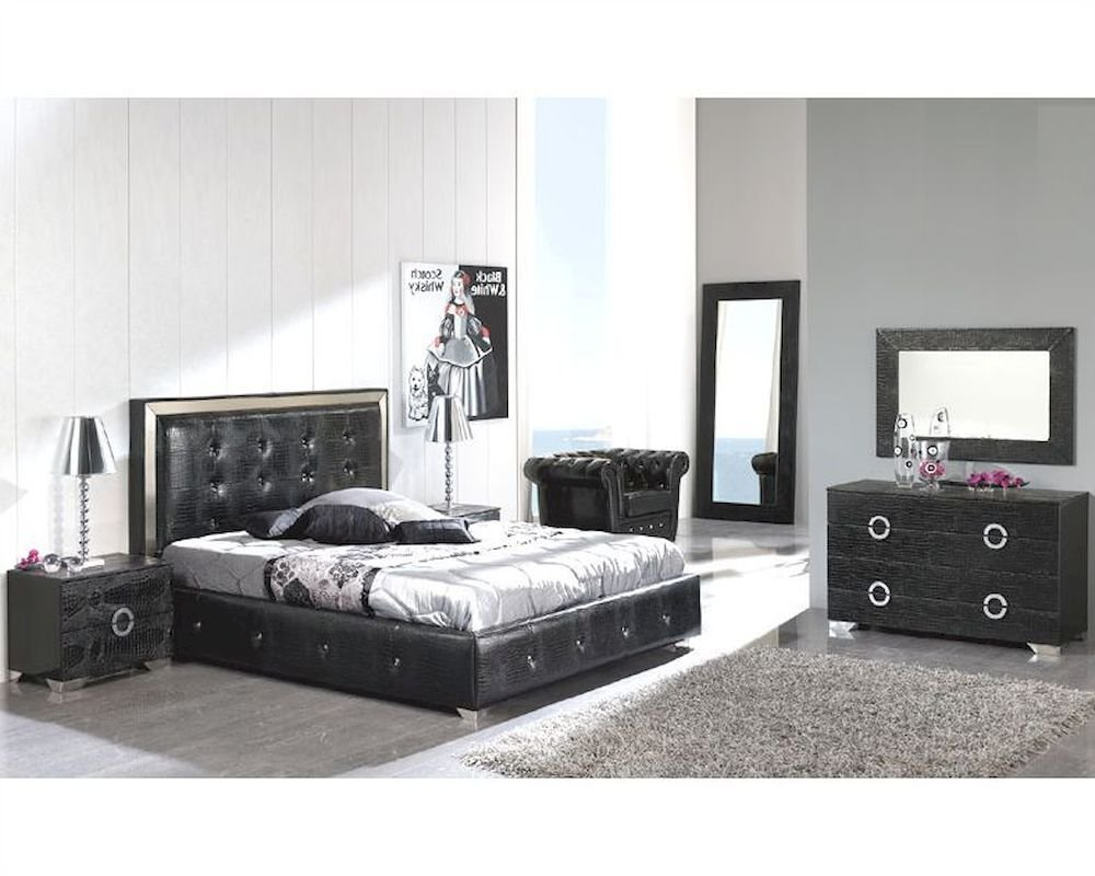 Best Modern Bedroom Set Valencia In Black Made In Spain 33B251 With Pictures Original 1024 x 768