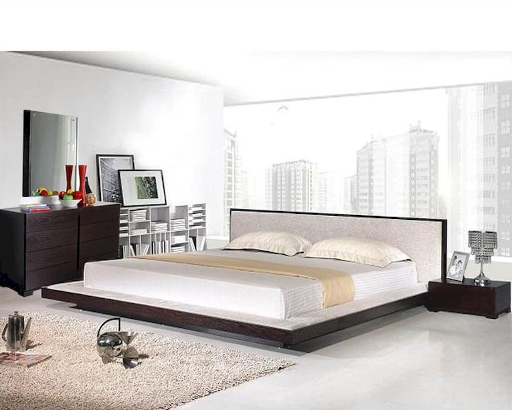 Best Modern Platform Bedroom Set In Wenge Finish Made In Italy 44B2111 With Pictures