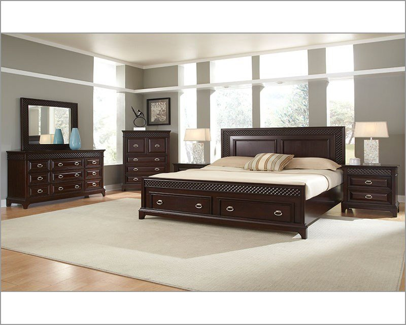 Best Najarian Furniture Bedroom Set With Storage Sonoma Na Sn 4Set With Pictures