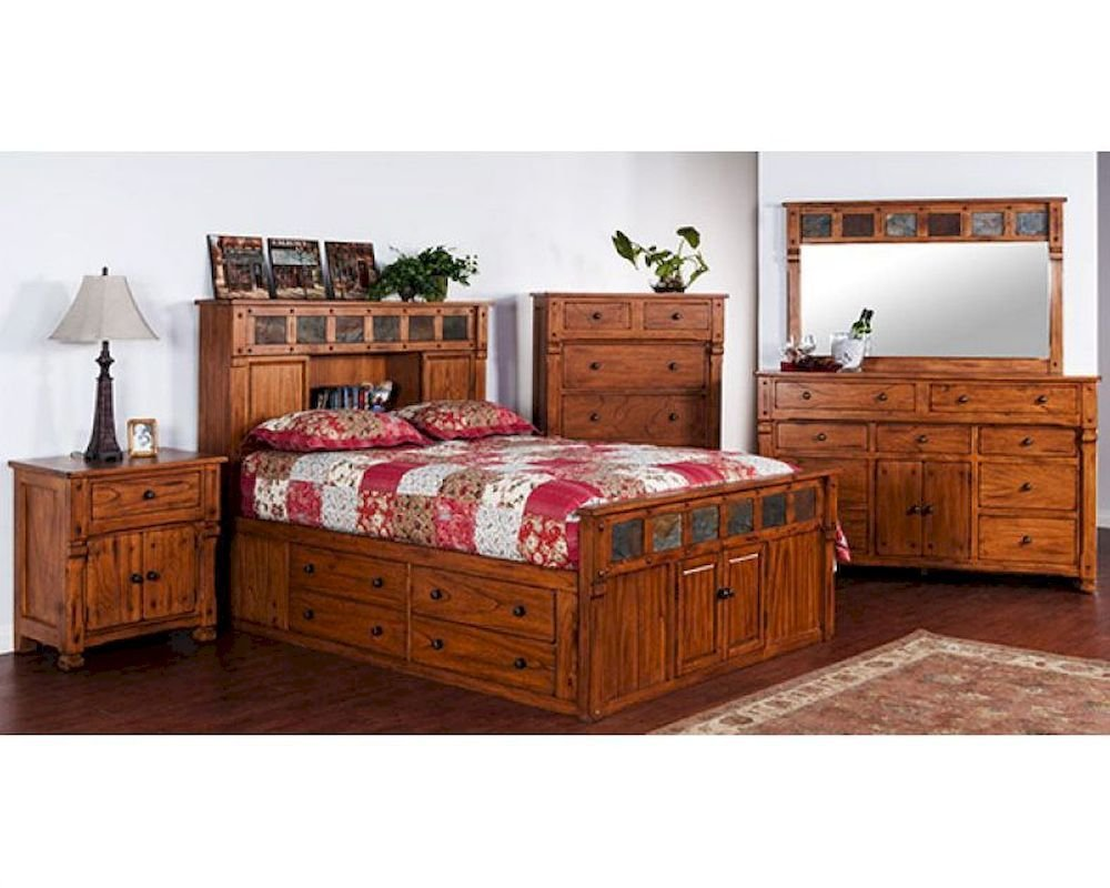 Best Storage Bedroom Set Sedona By Sunny Designs Su 2322Ro S Set With Pictures
