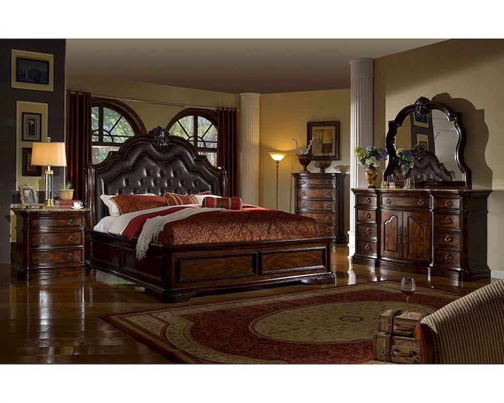 Best Traditional Bedroom Set W Sleigh Bed Mcfb6002Set With Pictures