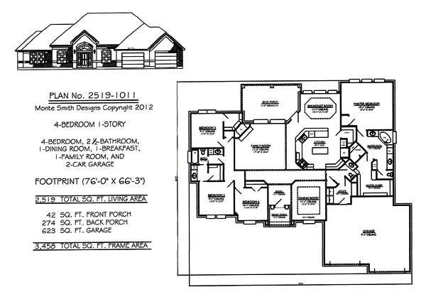 Best Small House Plans 1 Story 1 Story House Plans With 4 With Pictures
