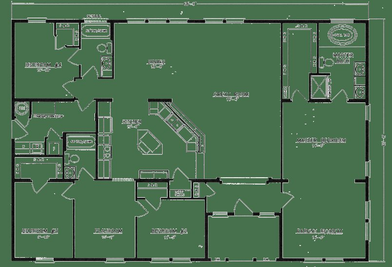 Best 4 Bedroom Metal Home Floor Plans 4 Bedroom Open House With Pictures