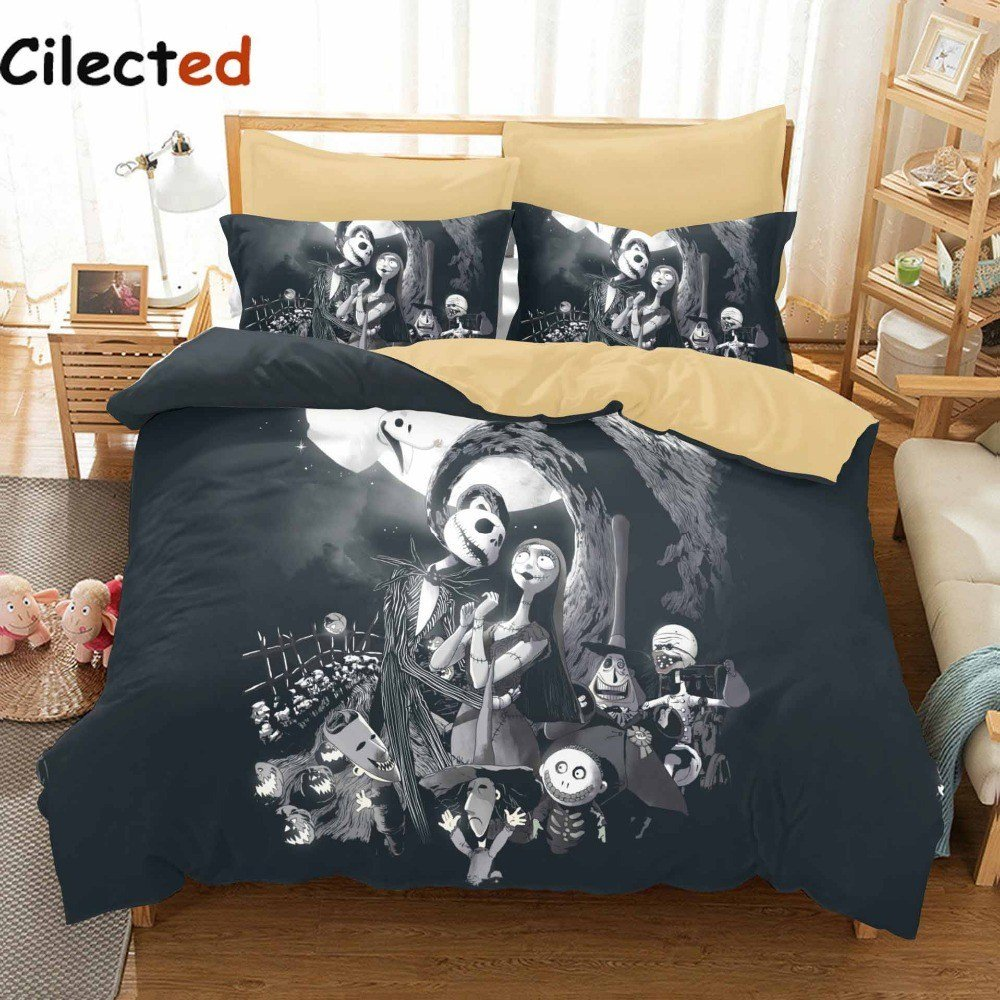 Best Nightmare Before Christmas Bed Set Fishwolfeboro With Pictures