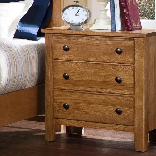 Best Simply Oak Night Stand 3 Drawers Light Oak Finish 312 227 Night Stands Parrott S With Pictures