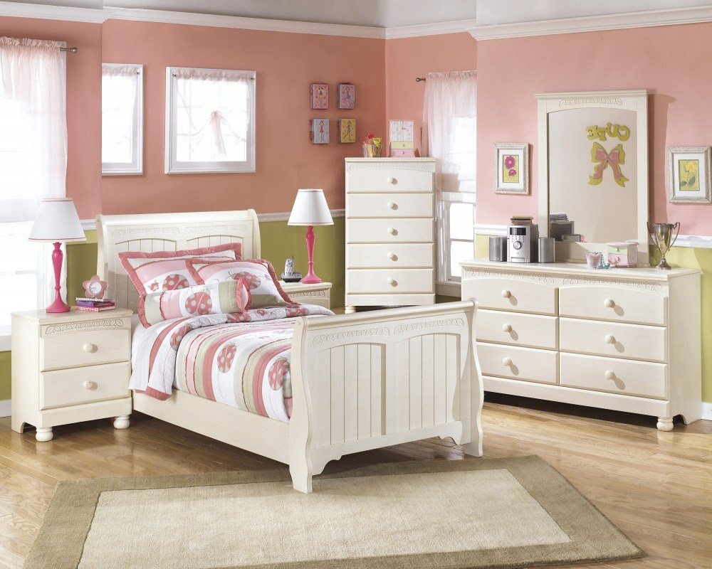 Best Cottage Retreat Twin Sleigh Bed Dresser Mirror Chest With Pictures