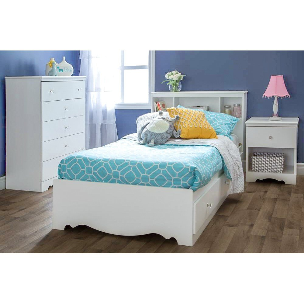 Best Crystal White Bedroom Set With Twin Mate S Bed Dcg Stores With Pictures