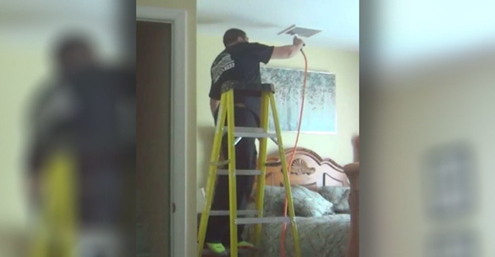 Best Hidden Camera Catches Repairman Doing This In Her Bedroom With Pictures