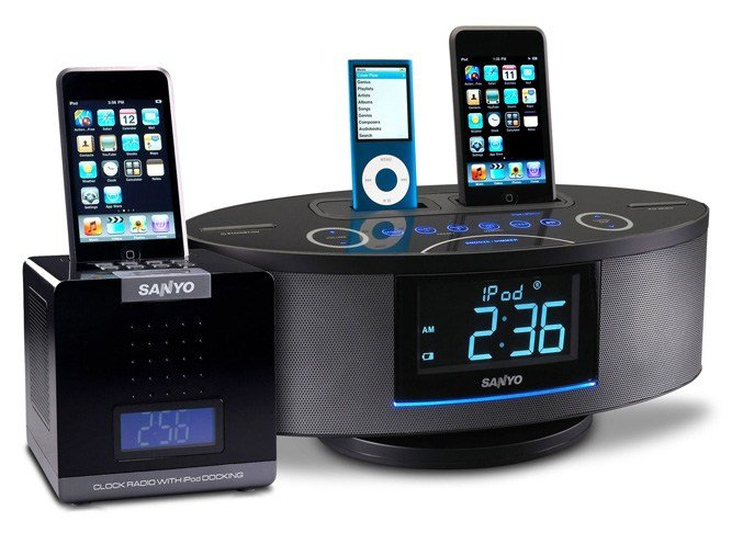 Best Sanyo Launches Cube Alarm Clock Radio And Dual Dock Music With Pictures