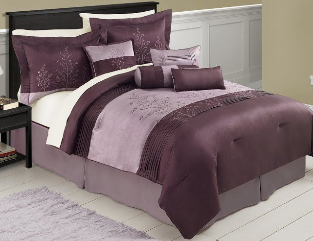 Best Forter Sets This Purple And Brown Chocolate Bedding With With Pictures