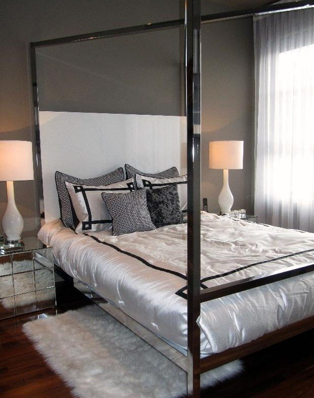 Best Landon Chrome Bed Hotel Glam Eclectic Beds Houston By High With Pictures