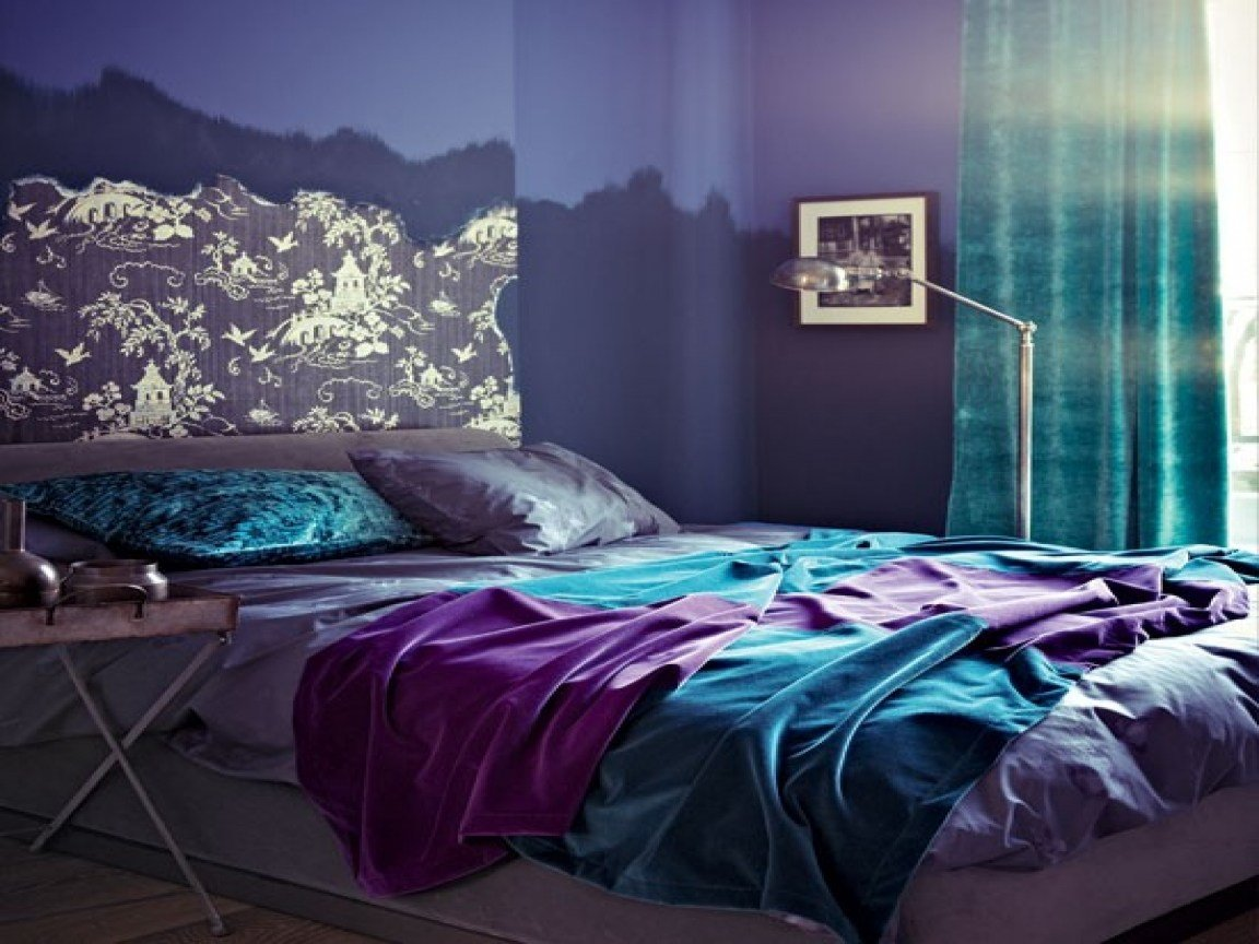 Best Purple Teal And Gray Bedroom Modern Designs With Pictures