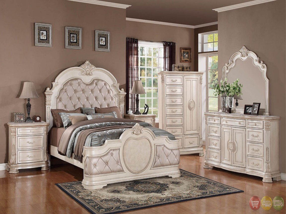 Best Distressed Off White Bedroom Furniture Antique Deposit Designs With Pictures