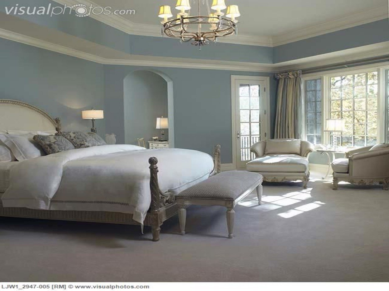 Best French Country Blue Paint Colors Master Bedroom Soft Walls With Pictures