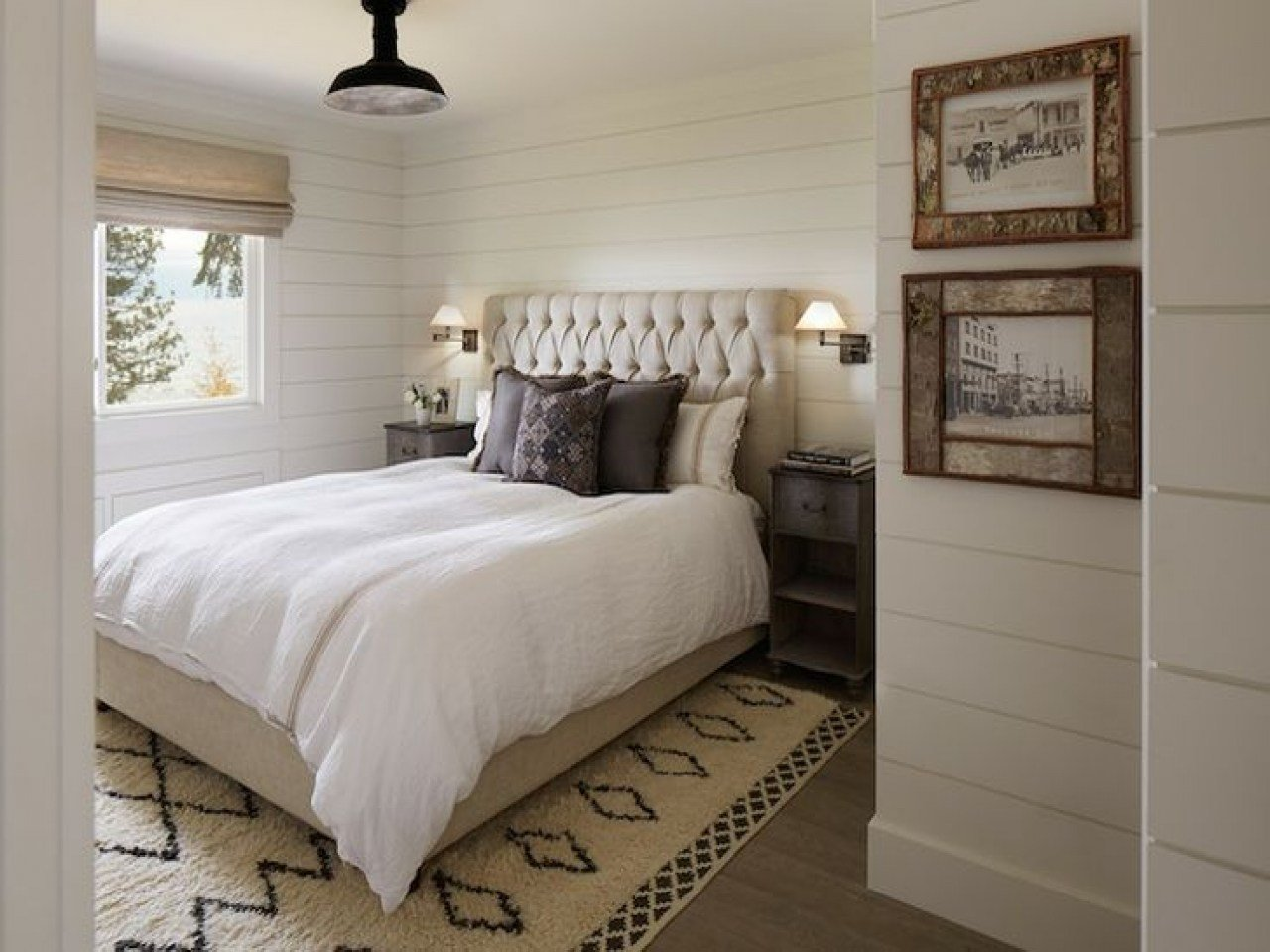 Best Shiplap Paneled Walls Wood White Bedroom Love Designs With Pictures