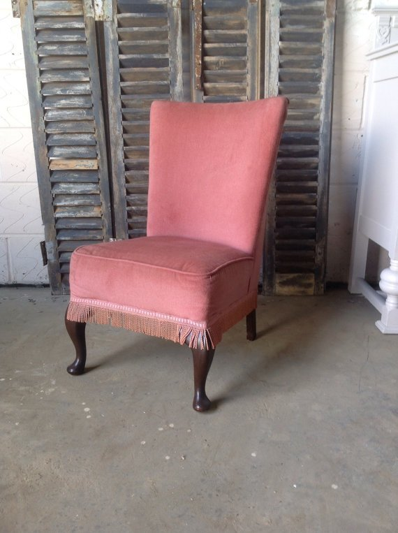 Best Vintage Red Upholstered Bedroom Chair La69400 With Pictures