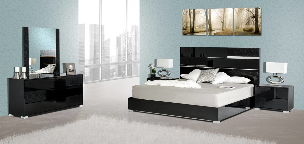 Best Made In Italy Quality Elite Modern Bedroom Set Escondido With Pictures