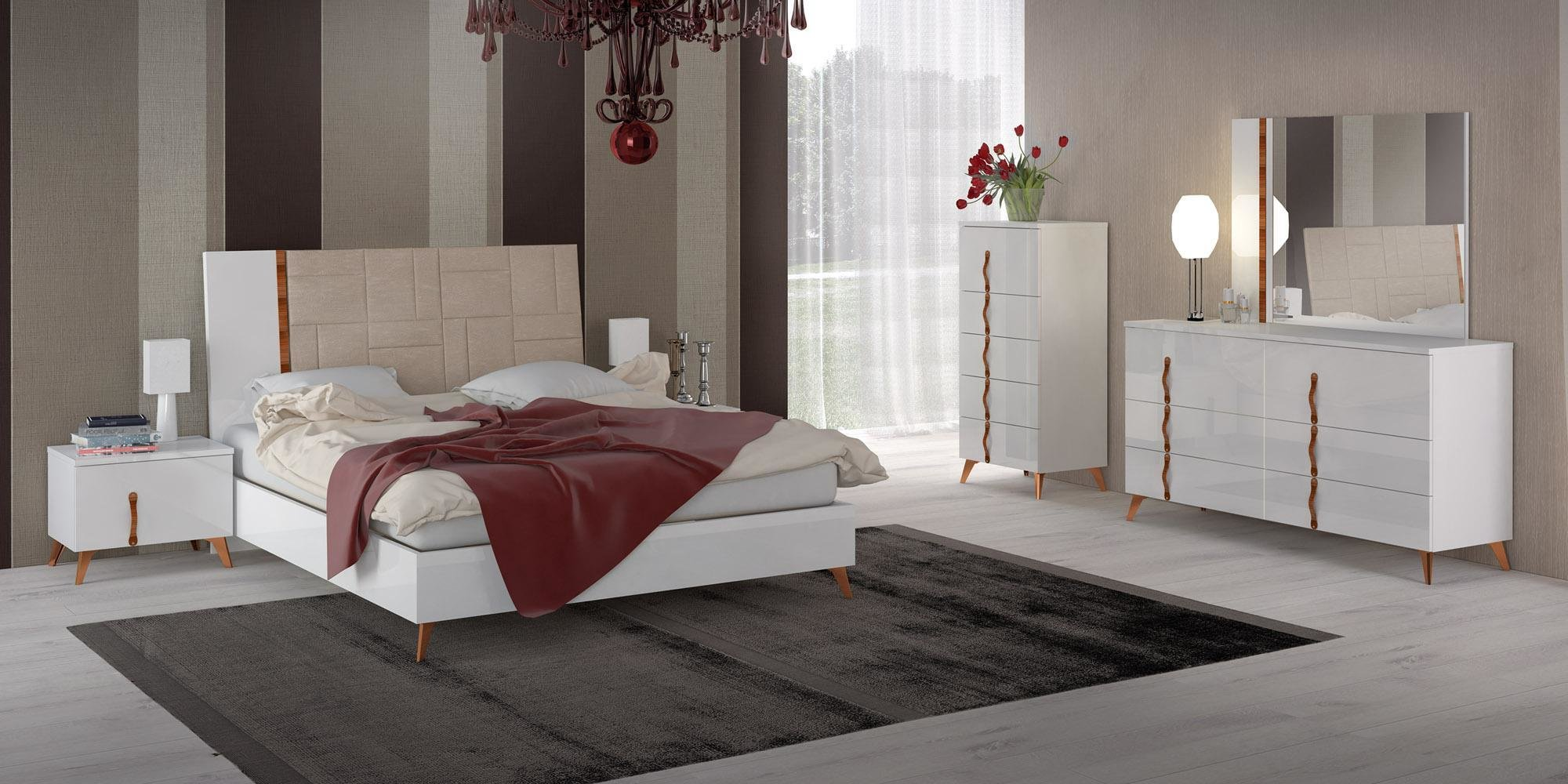 Best Made In Italy Leather Elite Modern Bedroom Sets With Extra With Pictures