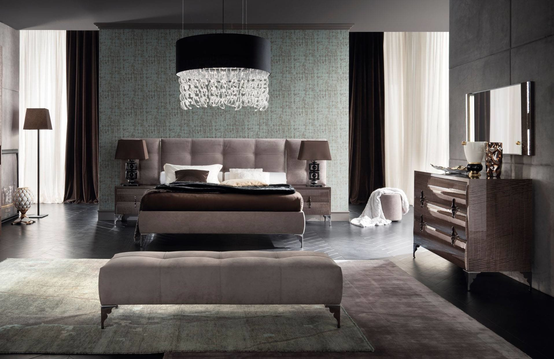 Best Made In Italy Leather Contemporary Master Bedroom Designs With Pictures