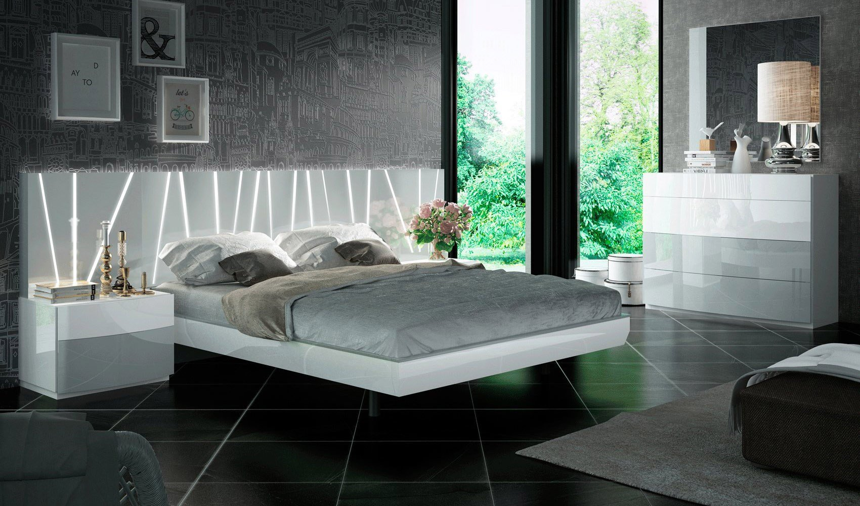 Best Contemporary European Style Bedroom Set Houston Texas Esf With Pictures