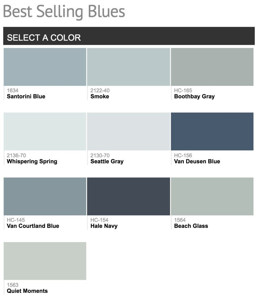 Best Selling Benjamin Moore Paint Colors With Pictures