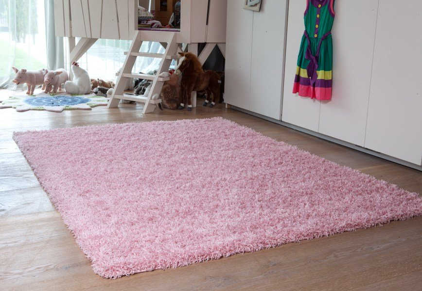 Best New Small Large Thick Soft Baby Pink Shaggy Rugs New Non With Pictures