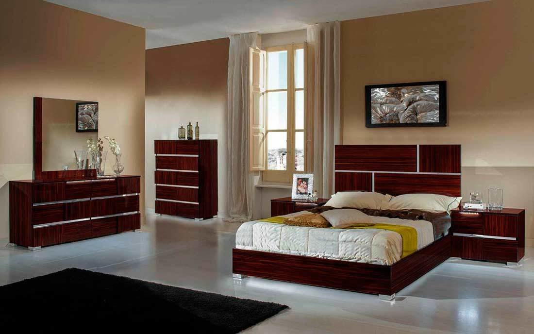 Best Modern Ebony Lacquer Finish Bed Piero Modern Bedroom Furniture With Pictures