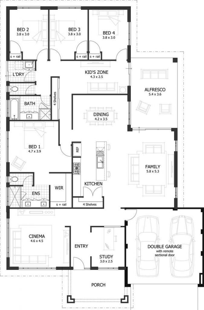Best Lovely 4 Bedroom Floor Plans For A House New Home Plans With Pictures