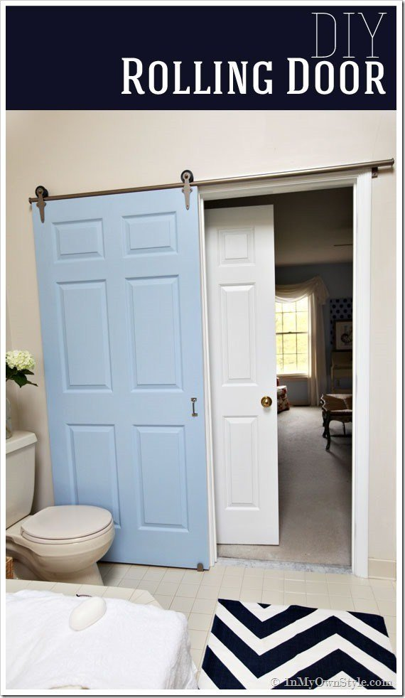 Best Diy Add A Rolling Door To A Room A Little Craft In Your Day With Pictures