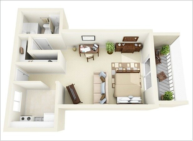 Best 10 Ideas For One Bedroom Apartment Floor Plans Amazing With Pictures