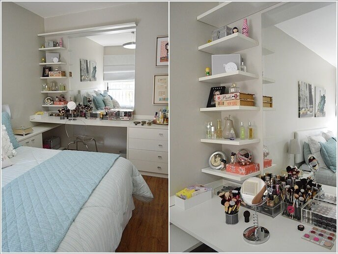 Best 10 Cool Ideas To Add A Makeup Area To Your Bedroom With Pictures
