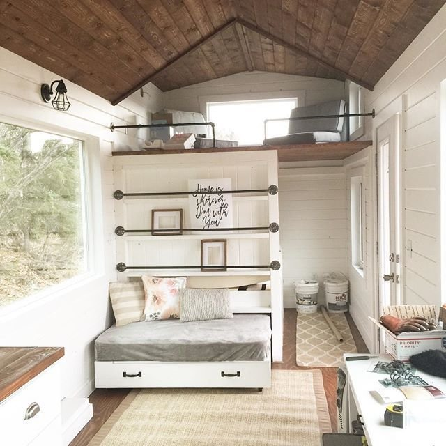 Best Ana White Tiny House Loft With Bedroom Guest Bed With Pictures