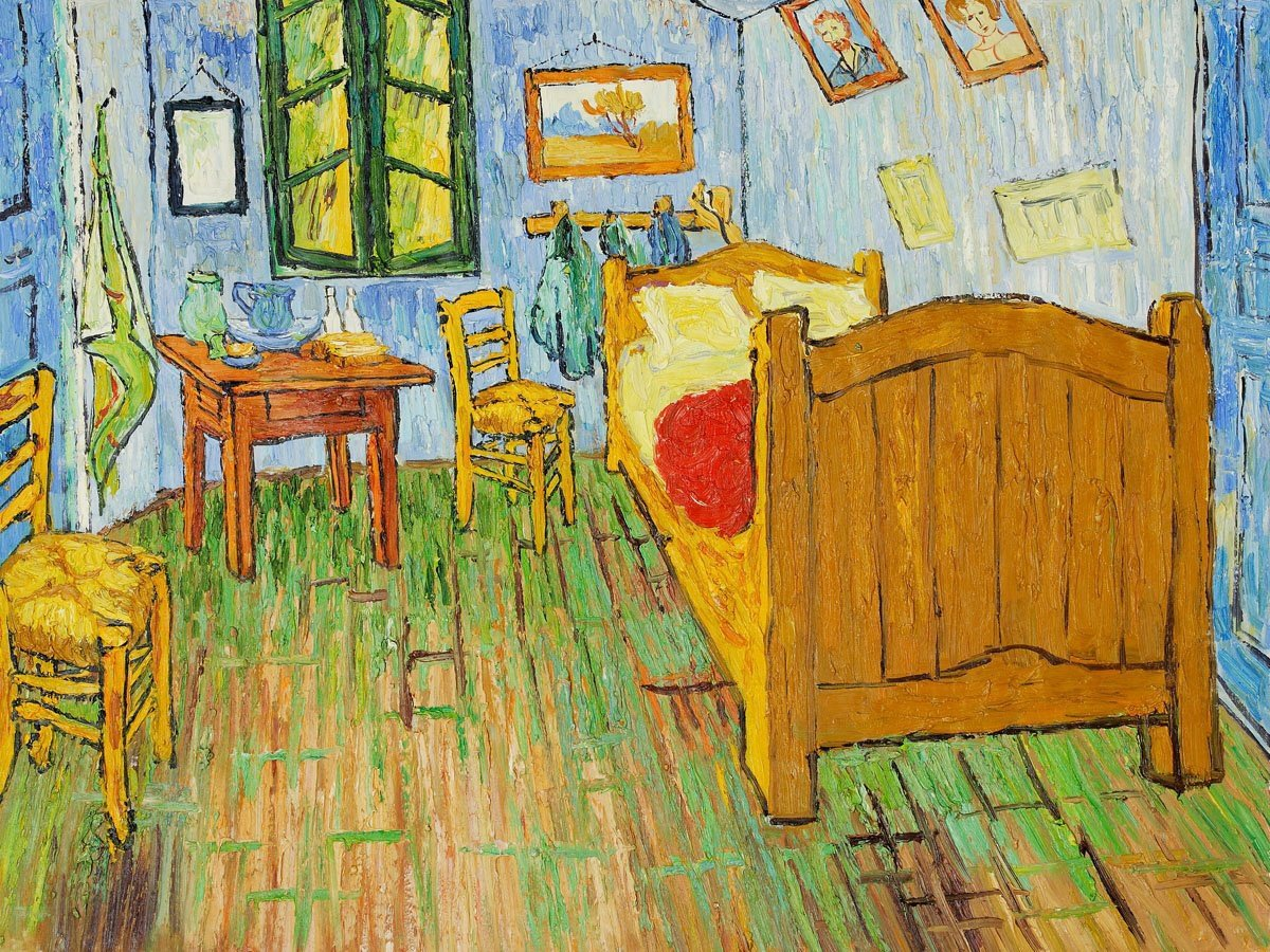Best Replica Of Van Gogh S Bedroom As Accommodation In Chicago Extravaganzi With Pictures