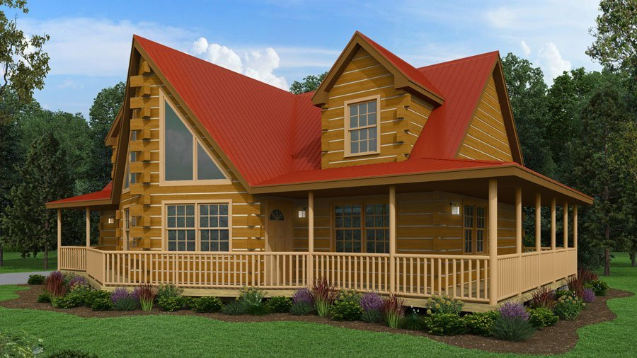 Best 4 Bedroom Log Cabin Floor Plan Large Log Cabin Kit With Pictures