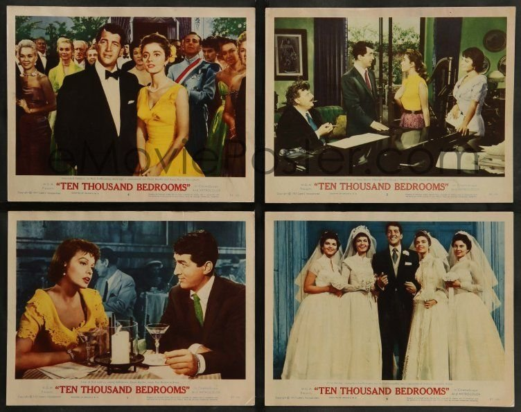 Best Emovieposter Com 6C477 Ten Thousand Bedrooms 8 Lcs 57 W Tc Art Of Dean Martin S*Xy Anna With Pictures