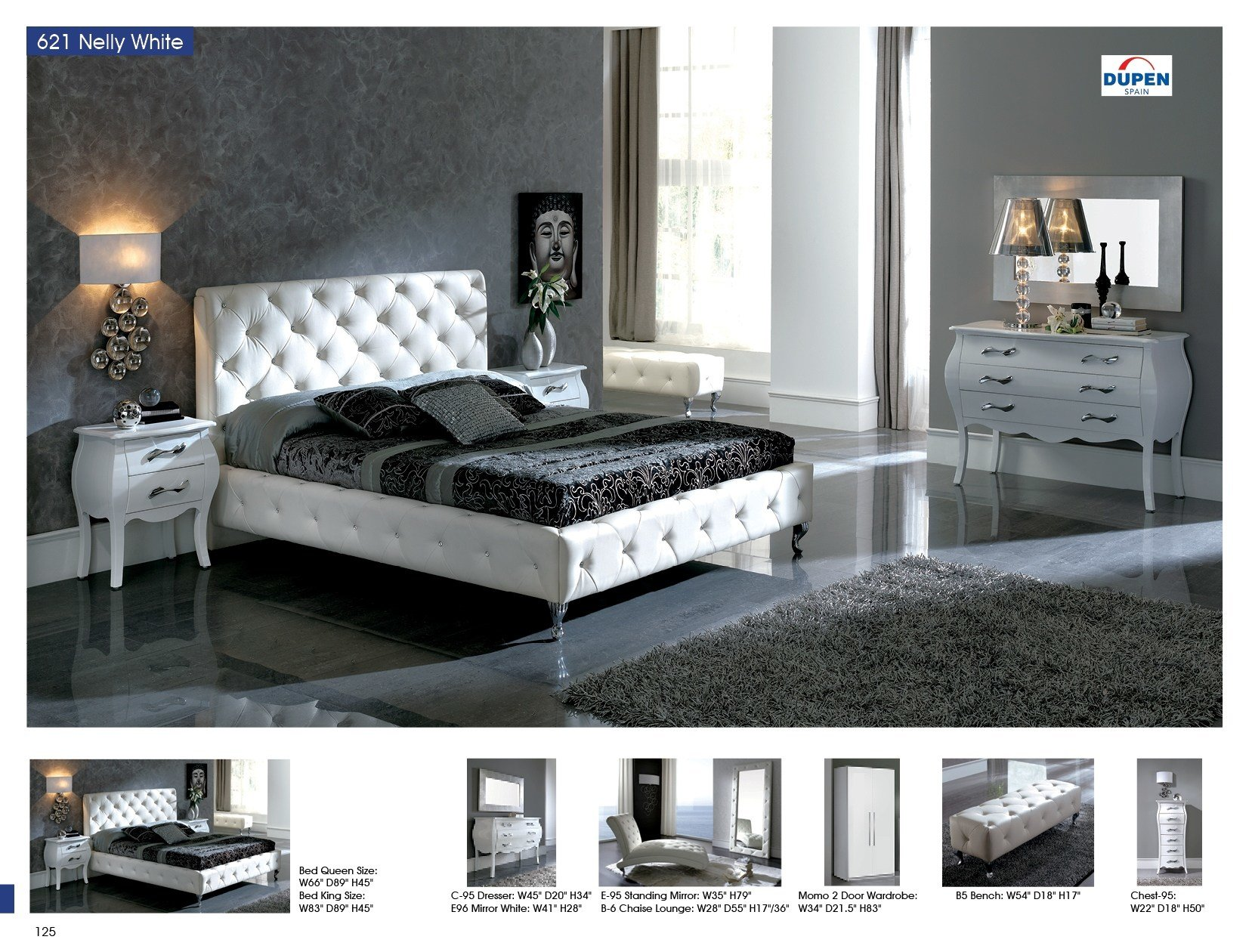 Best Nelly 621 White M95 C95 E96 B5 S95 Modern Bedrooms With Pictures