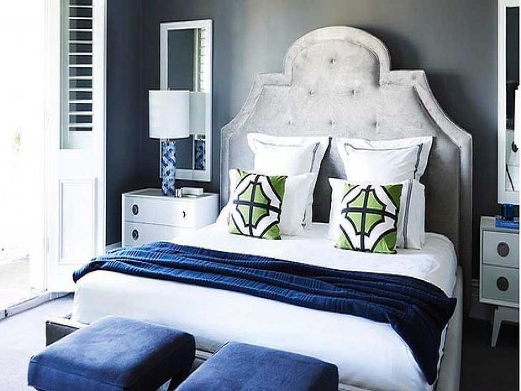 Best Accents In Design Navy Blue And Gray Bedroom Bedrooms With Pictures