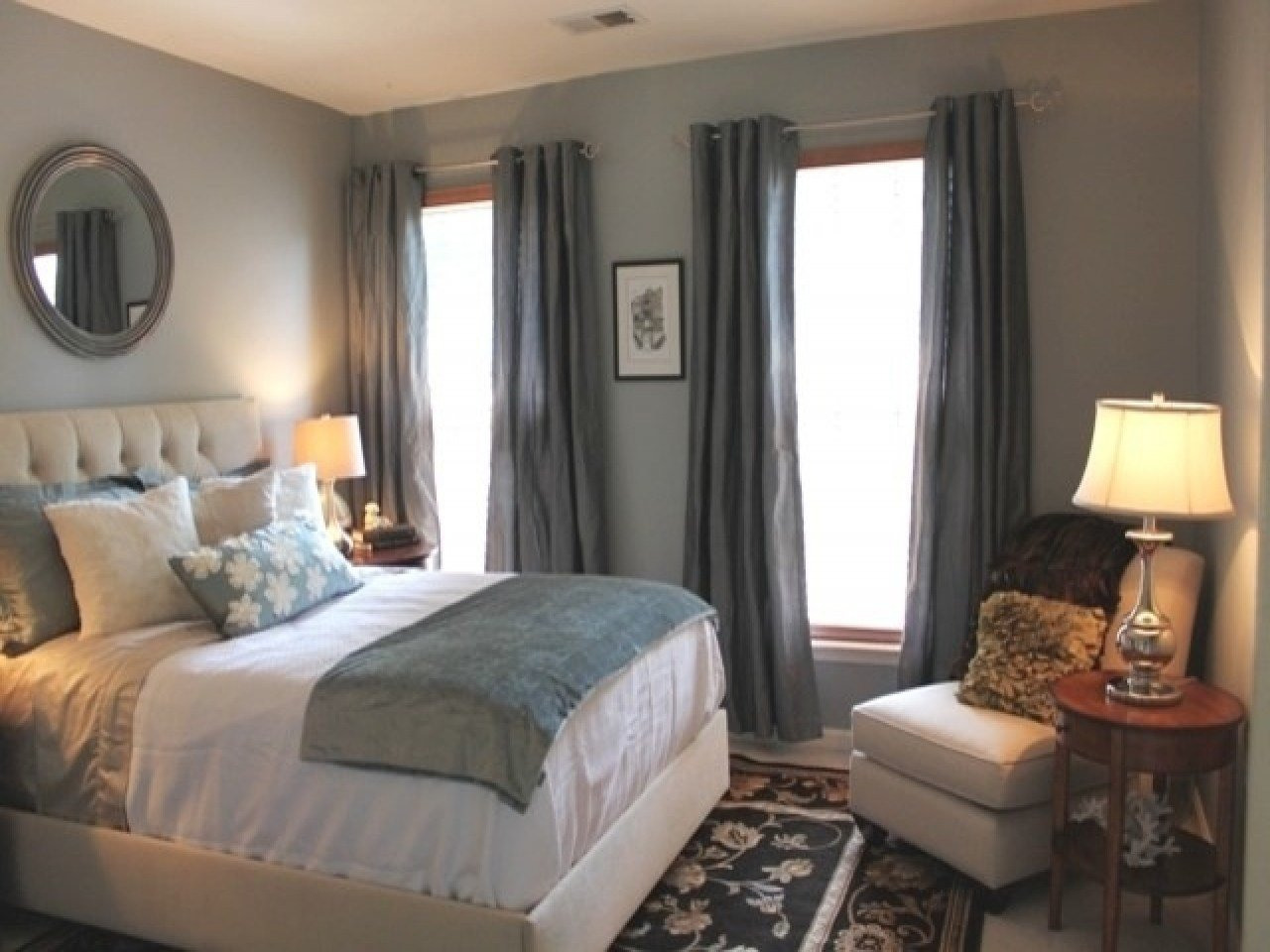 Best Curtain Color For Blue Walls Blue Grey Bedroom Colors Bedroom Colors Gray Bedroom Designs With Pictures