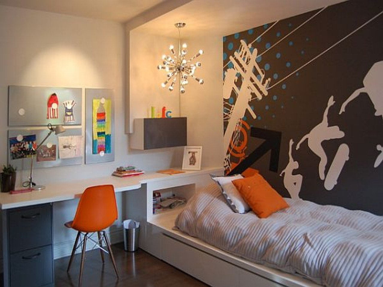 Best Accent Walls Bedroom Cool Teenage Boy Bedroom Wall Ideas With Pictures