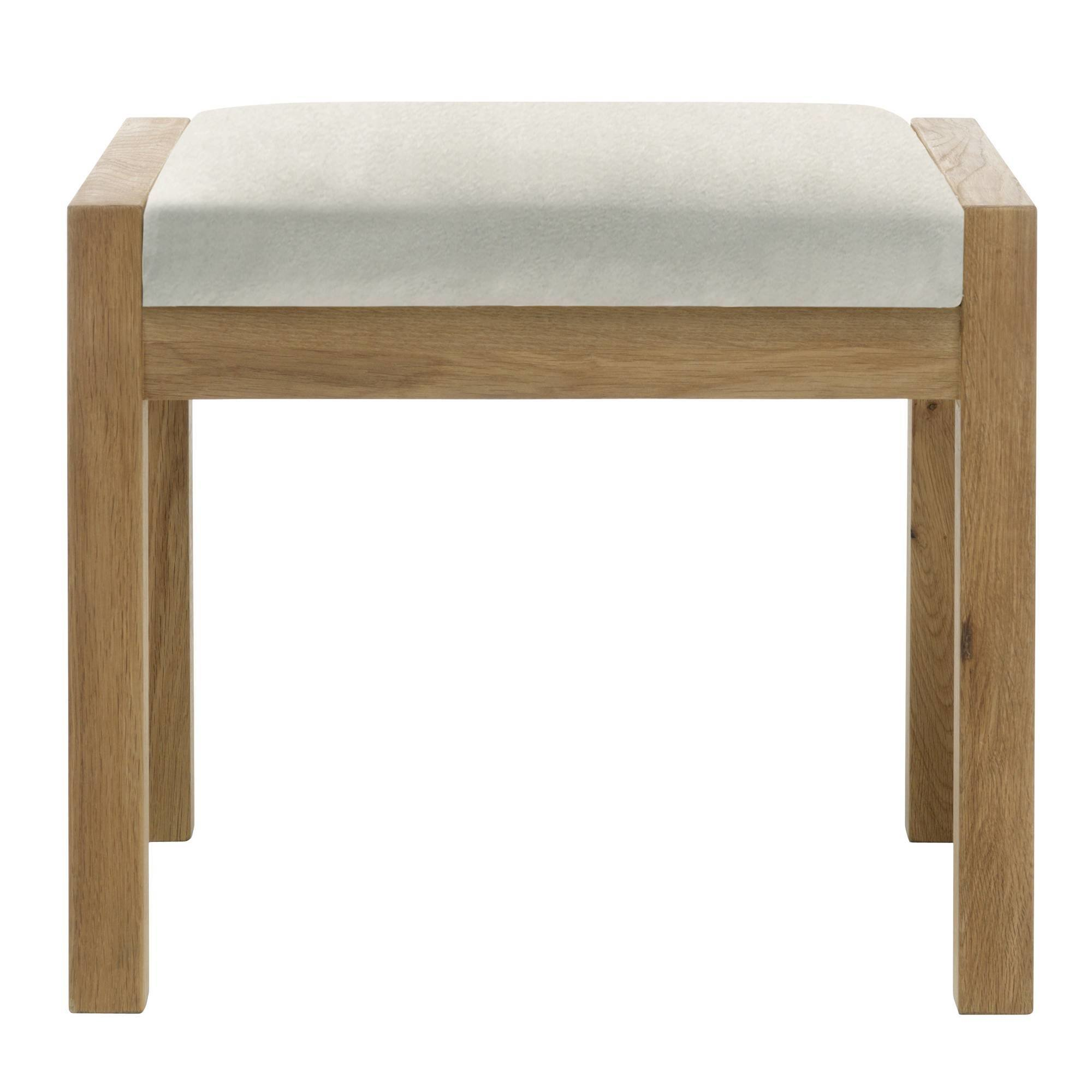 Best Athens Oak Bedroom Stool C W Beige Fabric Seat Pad With Pictures