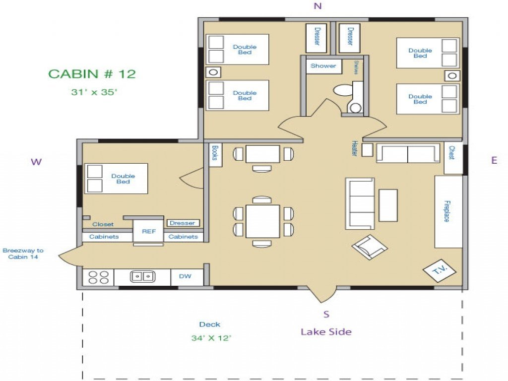 Best 3 Bedroom Cabin Floor Plans 1 Bedroom Log Cabins Lake With Pictures