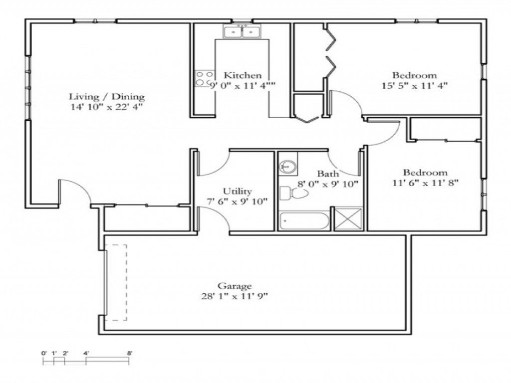Best Small 2 Bedroom Cottage 2 Bedroom Cottage Floor Plans With Pictures