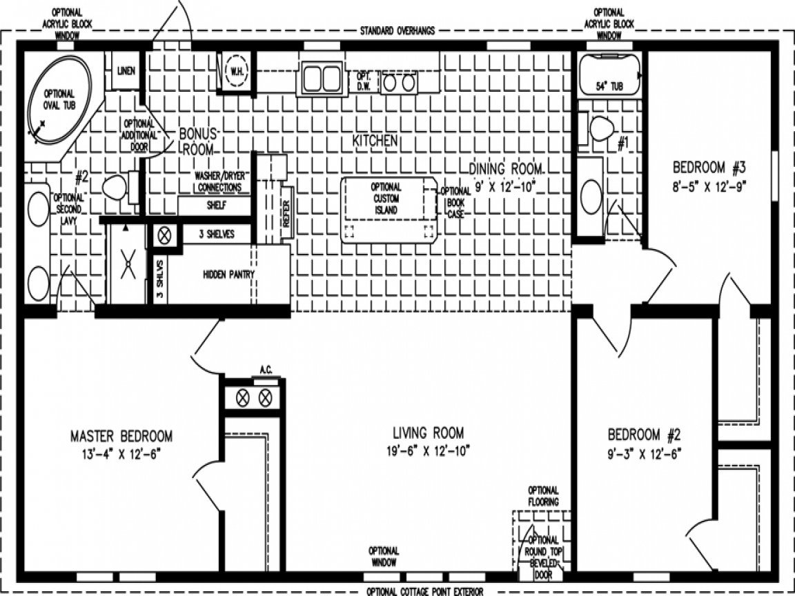 Best Mobile Home Floor Plans 1200 Sq Ft 3 Bedroom Mobile Home With Pictures