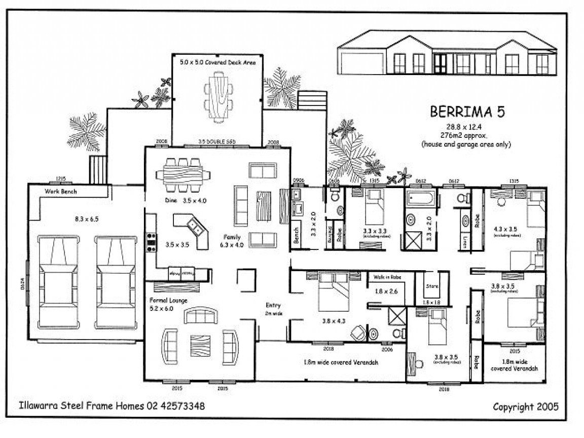 Best Simple 5 Bedroom House Plans 5 Bedroom House Plans 5 With Pictures Original 1024 x 768