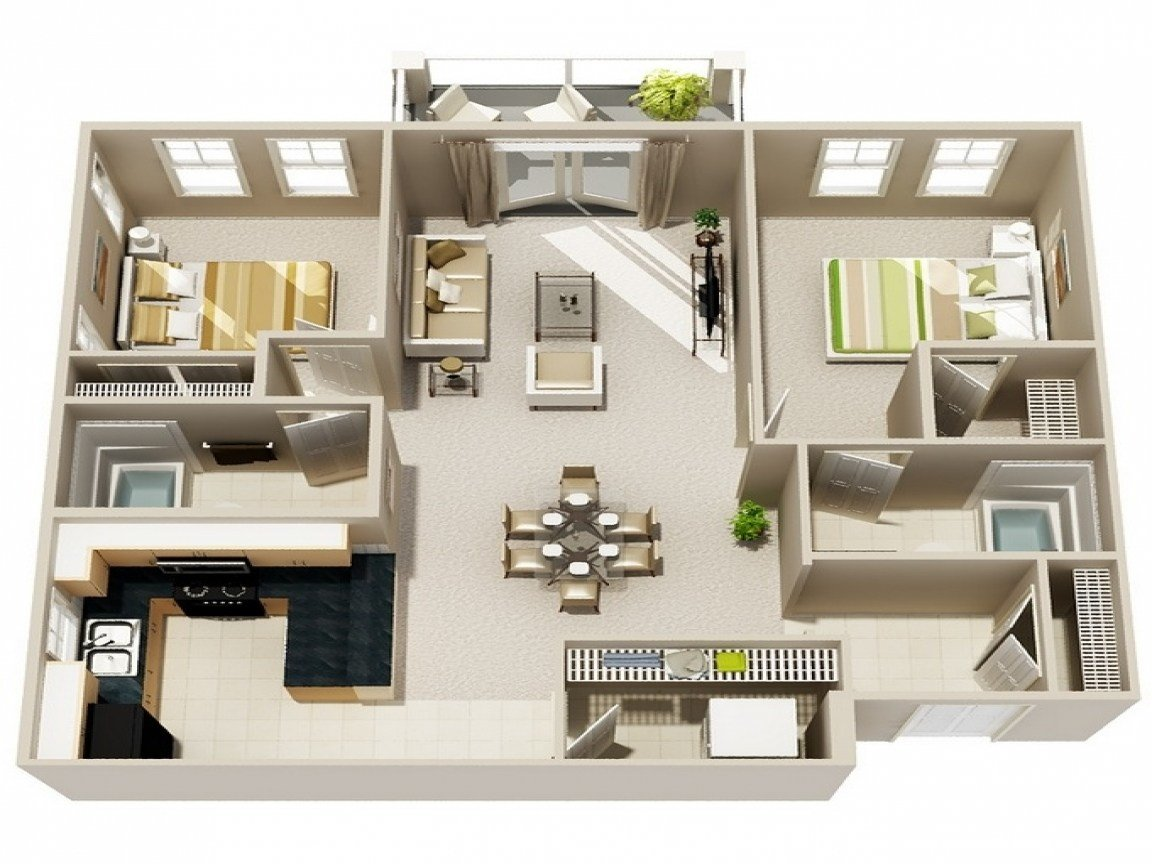 Best Small 2 Bedroom Apartment Floor Plan Very Small Apartments With Pictures