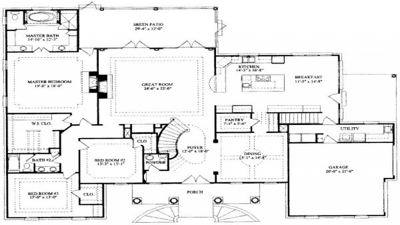 Best 8 Bedroom Ranch House Plans 7 Bedroom House Floor Plans 7 With Pictures