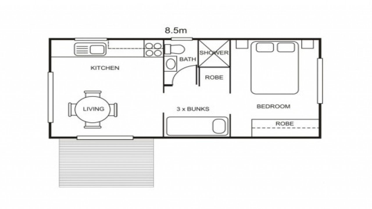 Best Small Cabin Plans 1 Bedroom One Bedroom Cabin Plans One With Pictures