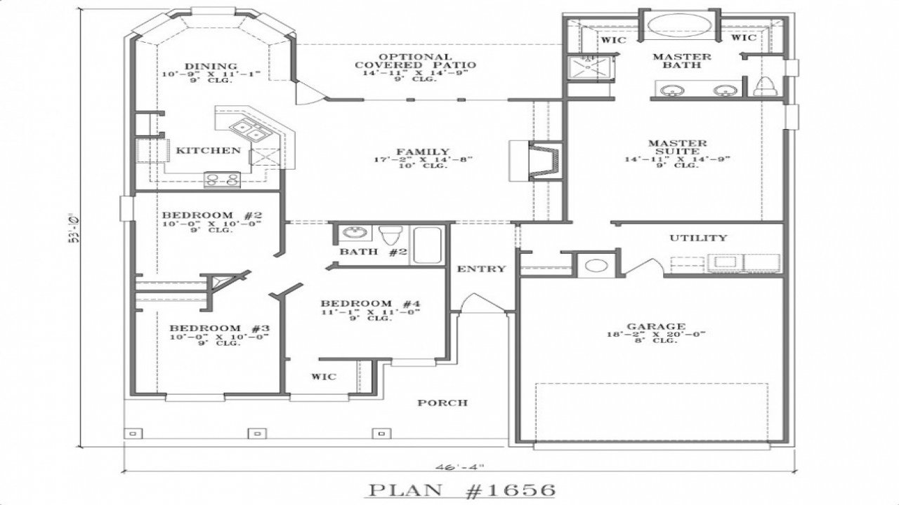 Best Small Two Bedroom House Floor Plans House Plans With Two With Pictures